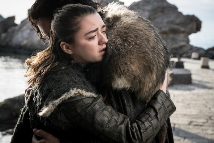 Arya e Jon nell'episodio di GoT 8x06, The Iron Throne