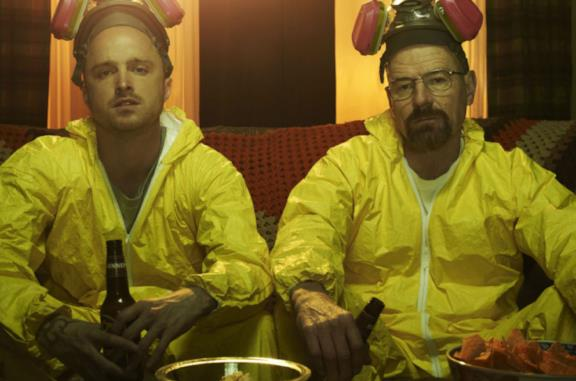 Una scena tratta dalla serie TV Breaking Bad