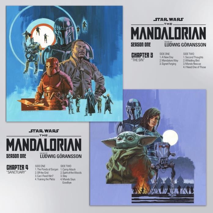 Gli artwork dei capitolo 3 e 4 della colonna sonora