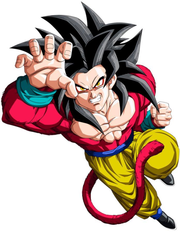 Trasformazione Super Saiyan 4 Dragon Ball GT