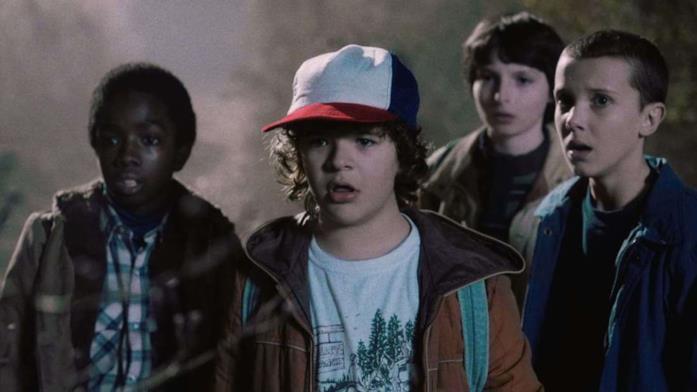 Dustin, Lucas, Undici e Michael di Stranger Things
