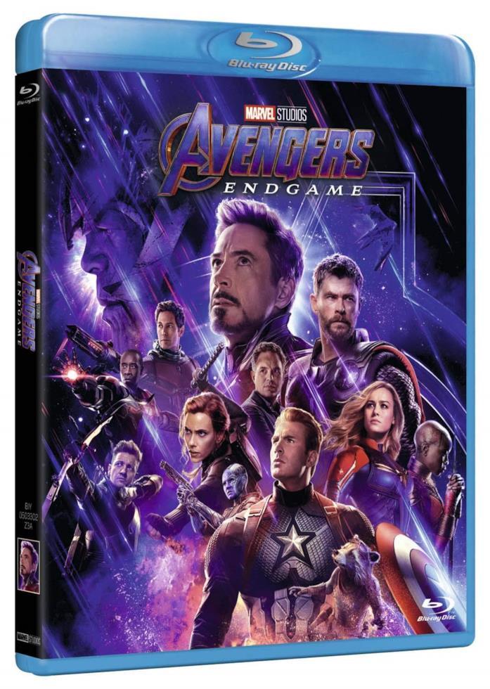 Copertina del cofanetto Blu-ray di Avengers: Endgame