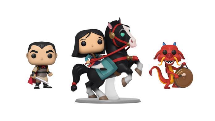 I Funko Pop di Li Shang, Mulan e Mushu