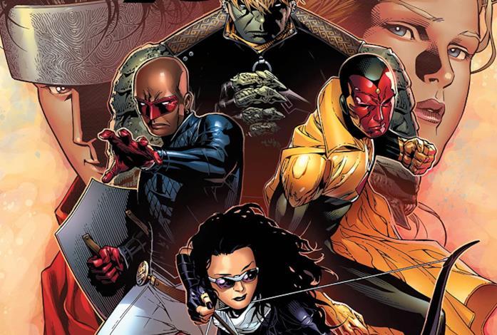 Dettaglio della cover di Young Avengers Ultimate Collection