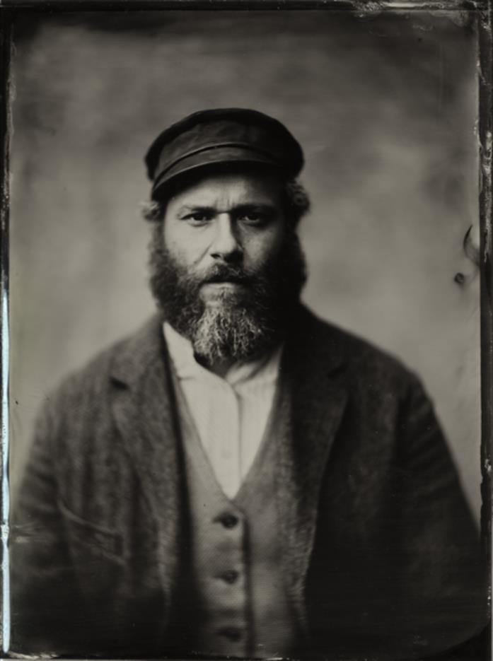 Seth Rogen in una foto in bianco e nero