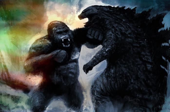 Un artwork di Danny Gonzalez del film Godzilla Vs. Kong