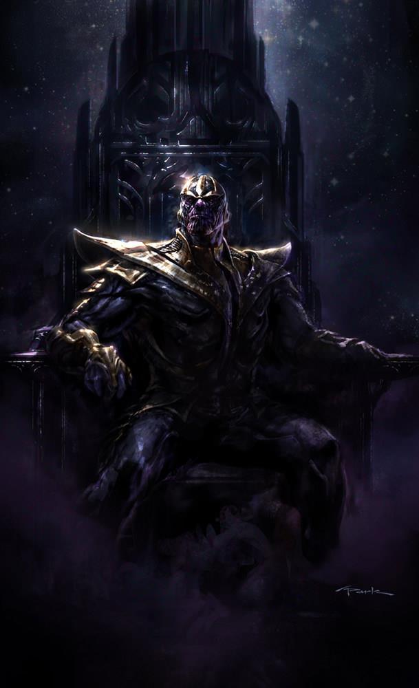 Thanos sul suo trono