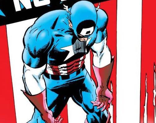 Dettaglio della cover di Captain America #332