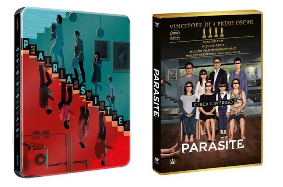 Le immagini delle due edizioni Home Video di Parasite