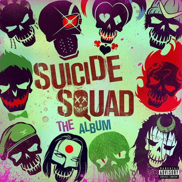 I membri di Suicide Squad sulla copertina dell'album della OST