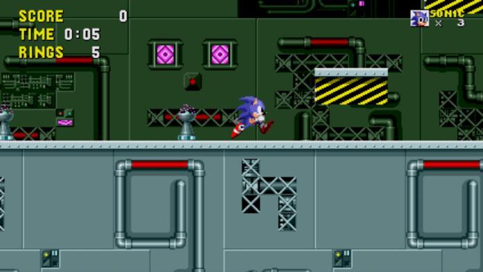 Sonic affronta la Scrap Brain Zone