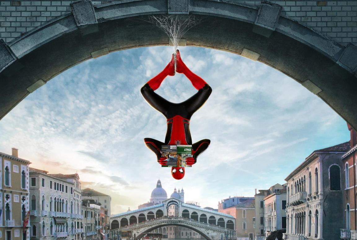 Spider-Man a testa in giù