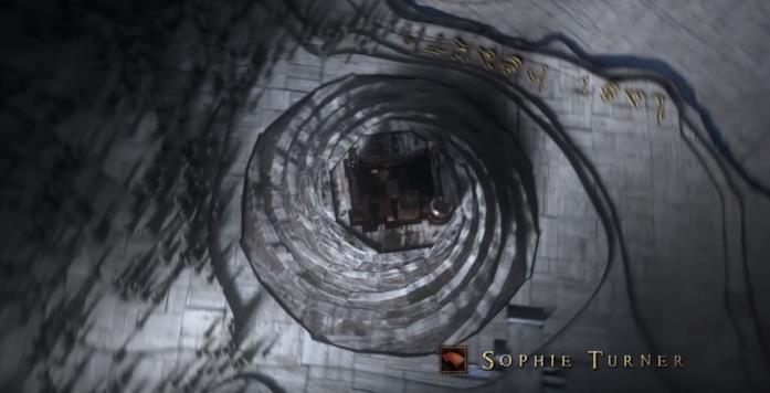 Un fotogramma dalla sigla di Game of Thrones 8, Episodio 1
