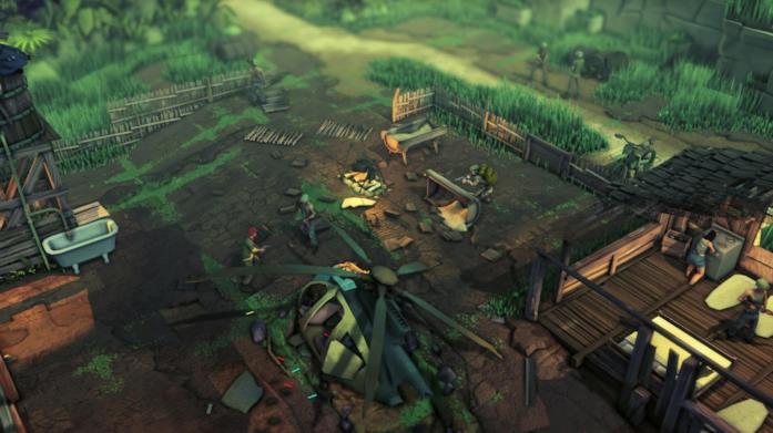Uno screen di gioco di Jagged Alliance: Rage!
