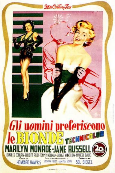 Poster Gli uomini preferiscono le bionde