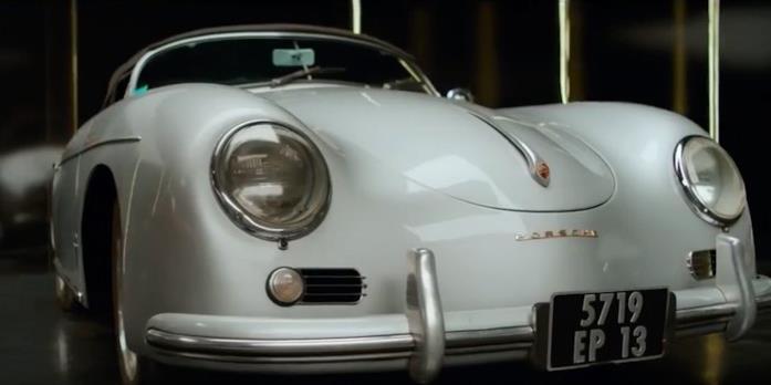 La Porsche d'epoca del film