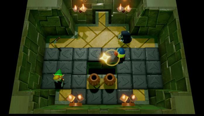 Un'immagine da un dungeon di The Legend of Zelda: Link's Awakening per Nintendo Switch