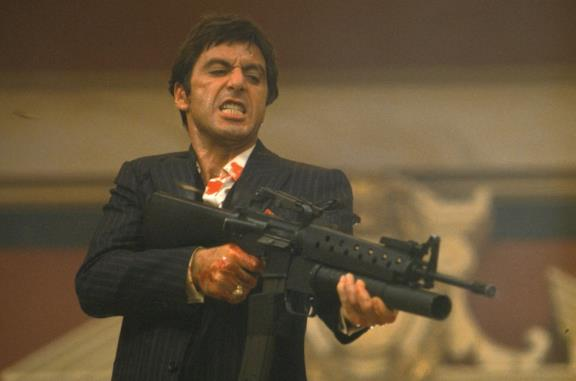 Al Pacino è Tony Montana in Scarface