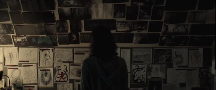 Le immagini dello Slender Man un una scena del film