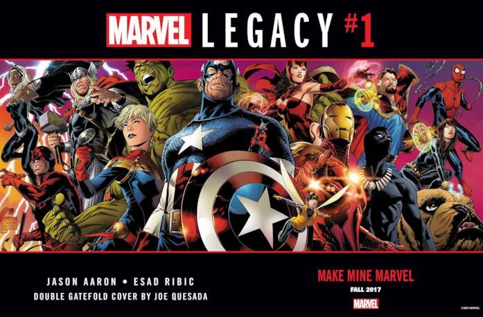 Le icone di casa Marvel ritratte nel teaser d'annuncio di Marvel Legacy