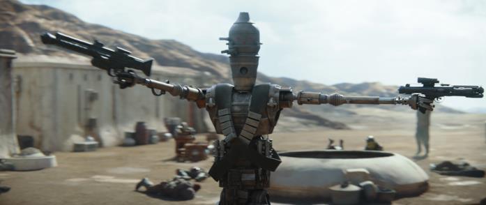 Un'immagine del droide IG-11