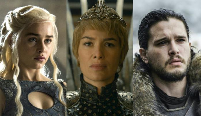 Daenerys, Cersei e Jon Snow di Game of Thrones
