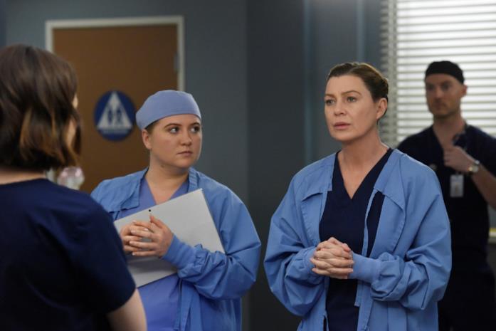 Una scena tratta dall'episodio 16x18 di Grey's Anatomy