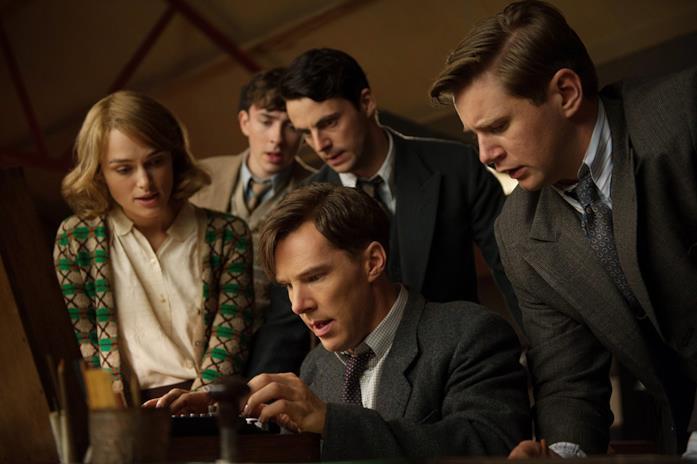 Keira Knightley, Matthew Beard, Matthew Goode, Benedict Cumberbatch e Allen Leech