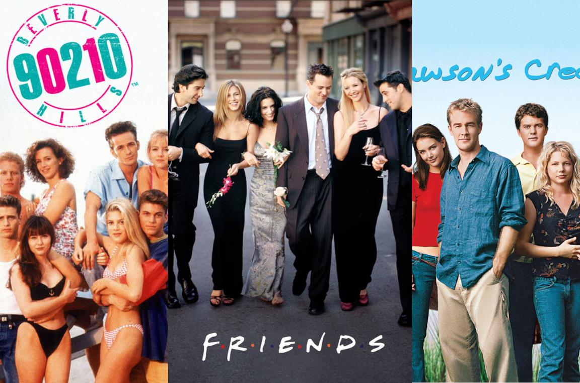 Un collage di triangoli nelle serie TV