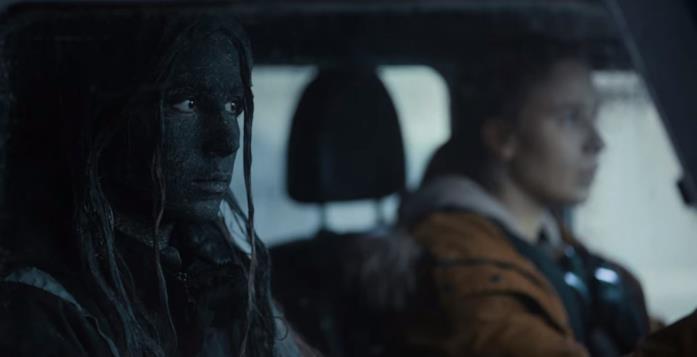 Gríma e il changeling col suo aspetto in auto insieme