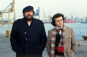 Bud Spencer e Jerry Calà in una scena del film