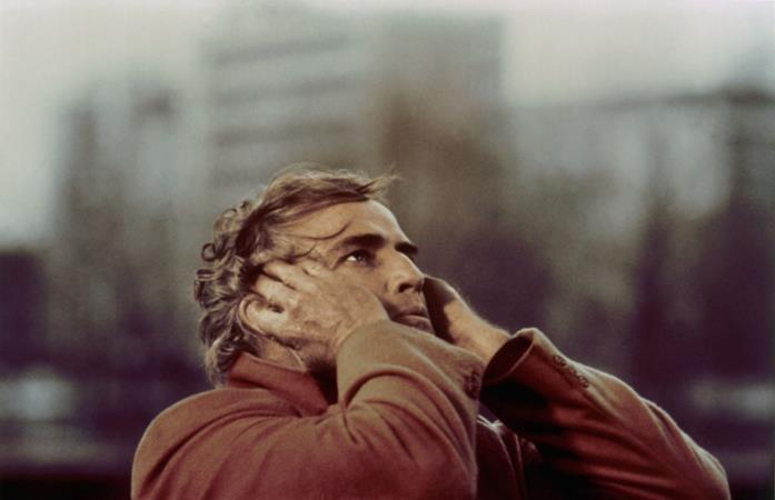 Marlon Brando in una scena di Ultimo Tango a Parigi