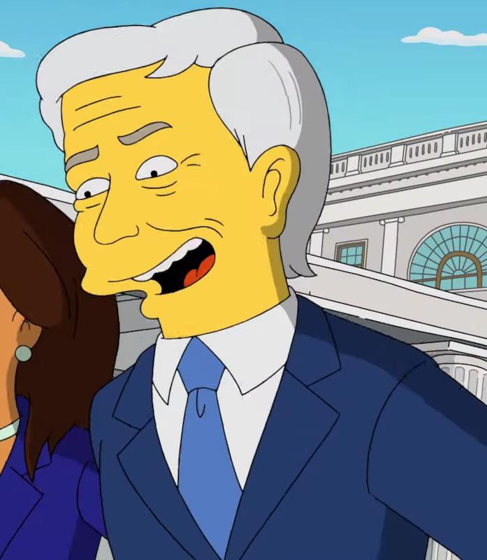 Joe Biden esulta dopo aver sconfitto Trump nel can-can