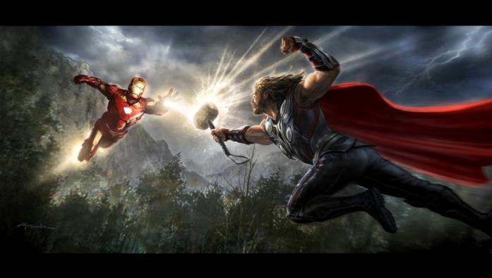 Thor combatte contro Iron Man