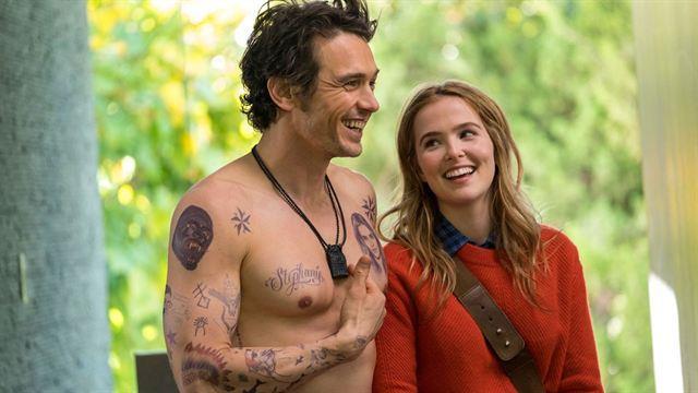 Un'immagine con James Franco e Zoey Deutch in Proprio lui?