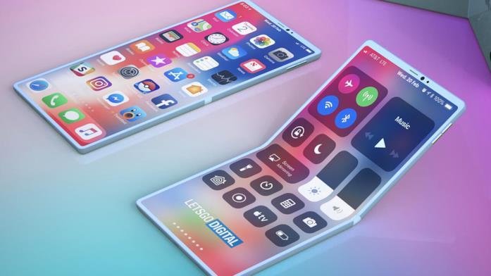 Concept di un iPhone pieghevole realizzato da LetsGoDigital