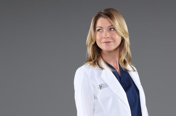 Ellen Pompeo in un'immagine promozionale per Grey's Anatomy