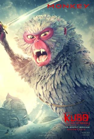 Monkey nella locandina di Kubo and the Two Strings