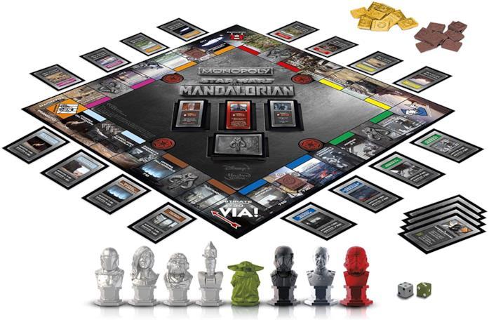 La plancia di gioco del Monopoly di The Mandalorian