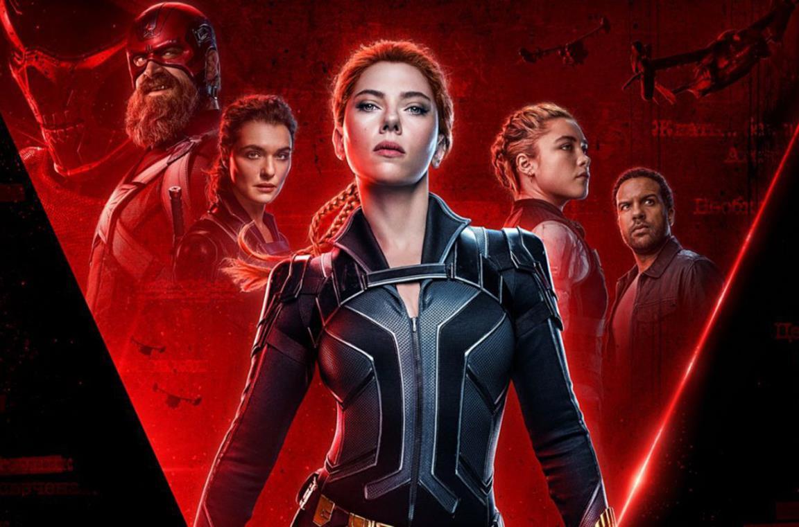 Un dettaglio del poster di Black Widow
