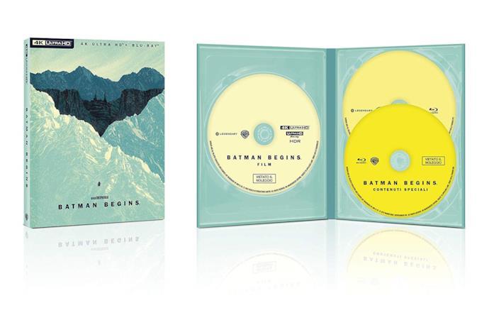 Copertina e interno del cofanetto Blu-ray di Batman Begins