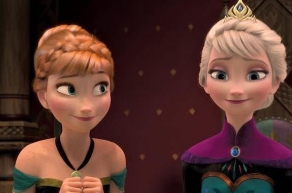 Elsa e Anna in Frozen