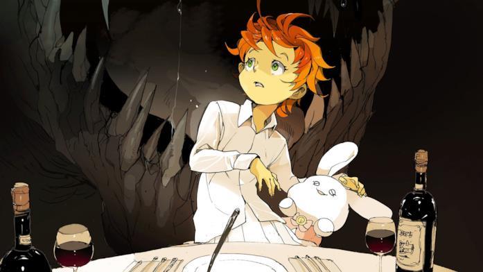 Una scena di The Promised Neverland anime