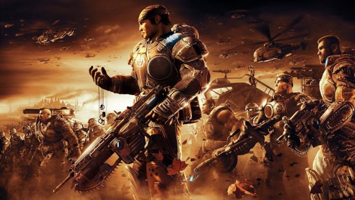 Un artwork ufficiale di Gears of War 2 su Xbox 360