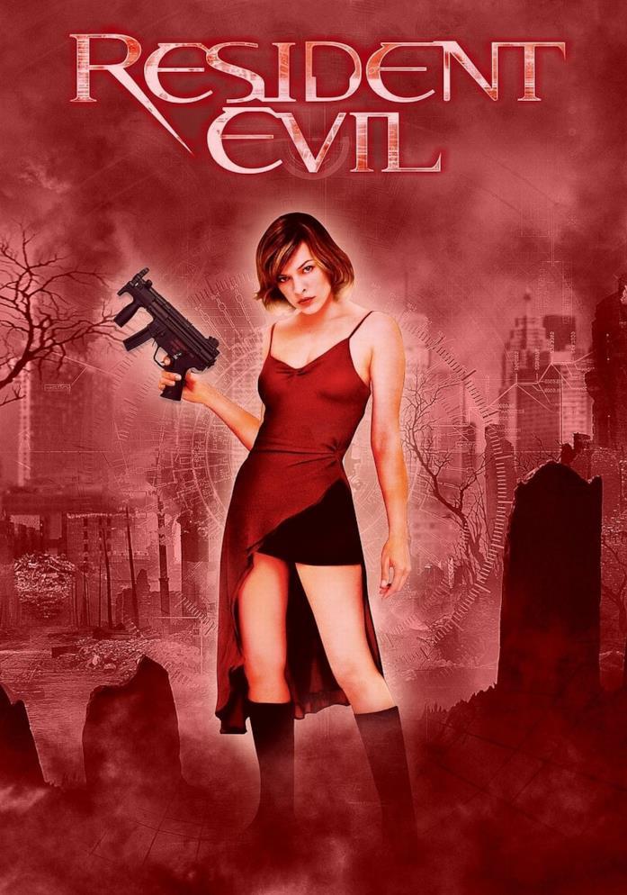 Milla Jovovich nella locandina di Resident Evil