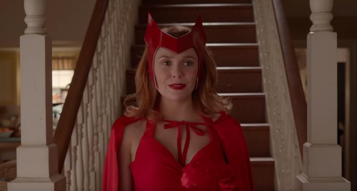 Primo piano di Scarlet Witch nello spot Big Game di Disney+