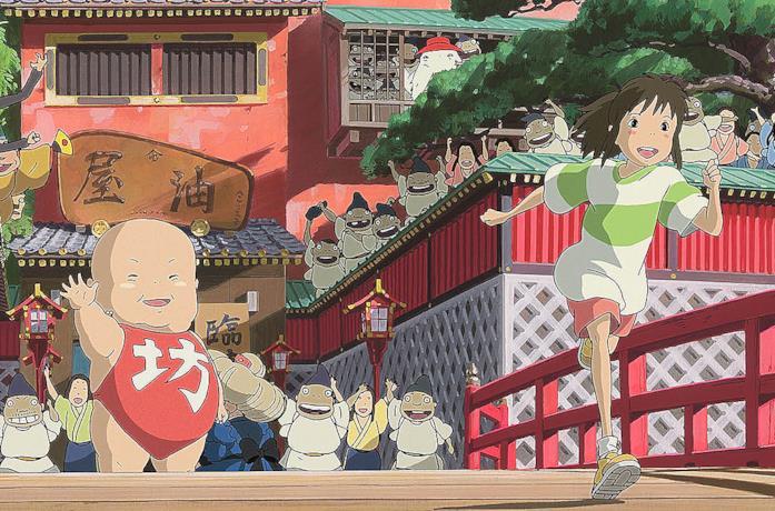 Chihiko e la strega Yubaba ai bagni