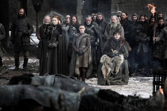 Gli Stark rendono omaggio ai caduti della Grande Guerra a Winterfell