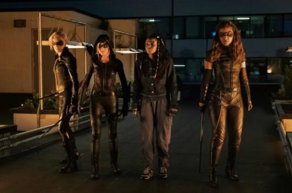 Un'immagine delle eroine di Green Arrow and the Canaries