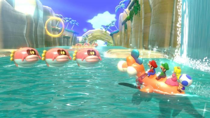 Super Mario 3D World dinosauro